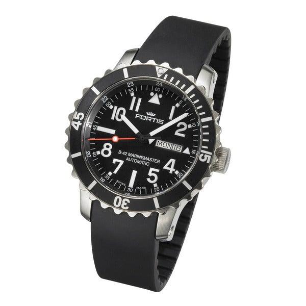 Fortis Men's B-42 Marinemaster Automatic Black Dial Watch