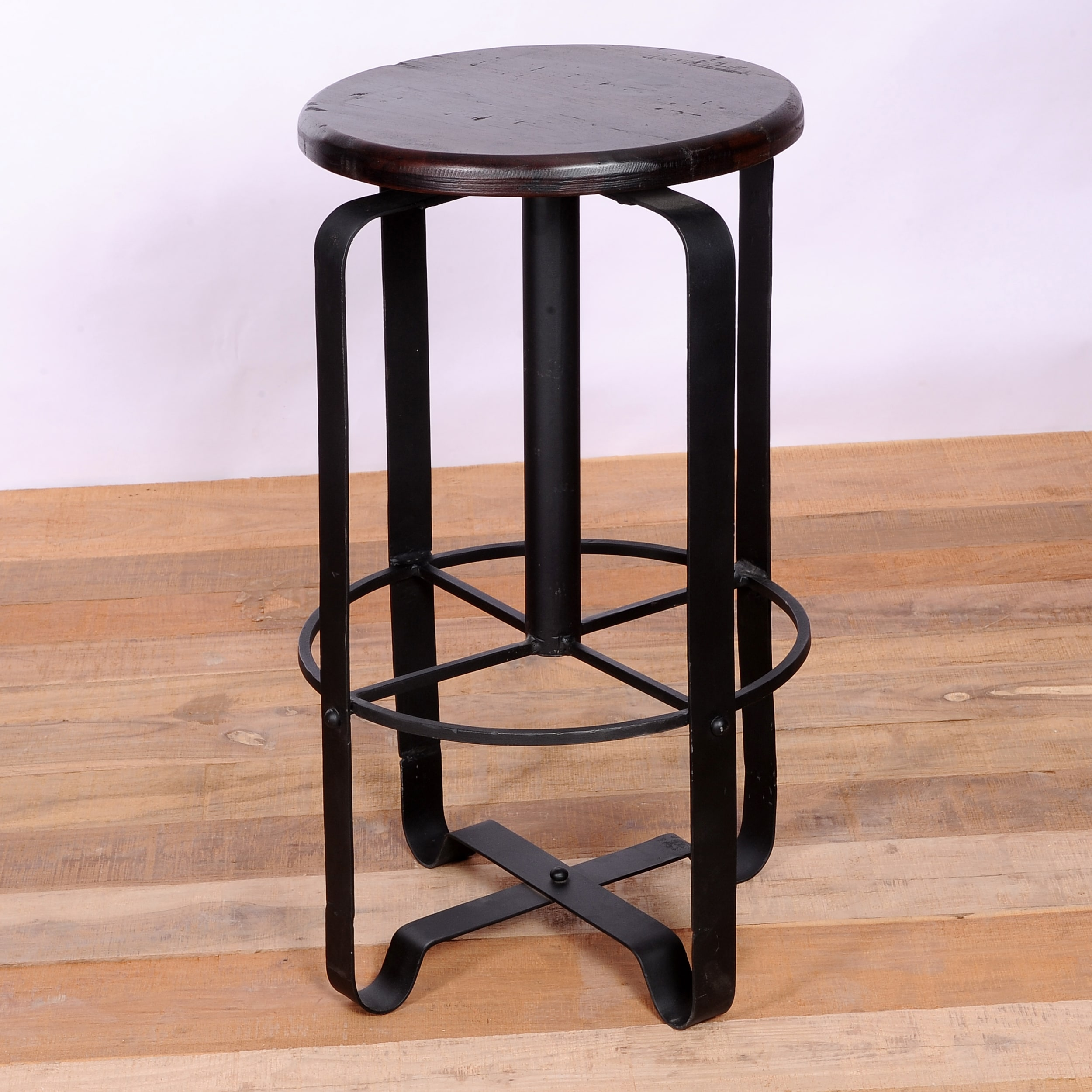 Bandhavgarh Iron and Wood Stool (India)