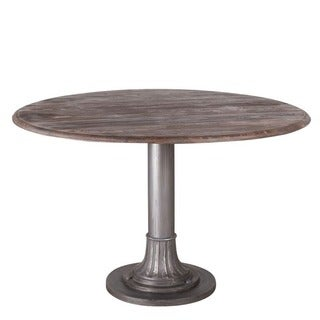 Smoky Teak Round Dining Table