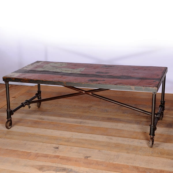 Freight truck coffee table india overstock shopping for Top rated coffee tables