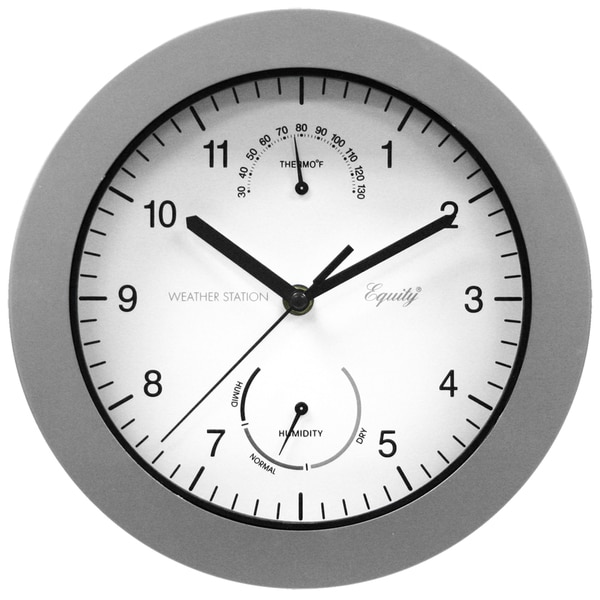 Outdoor 10-inch Wall Clock with Thermometer and Humidity