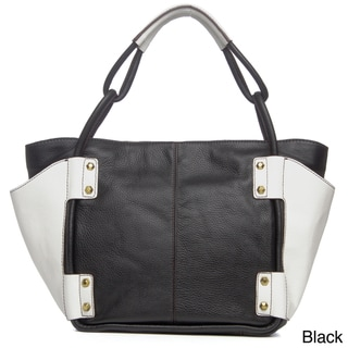 Oryany Dara Side Pocket Leather Tote Bag