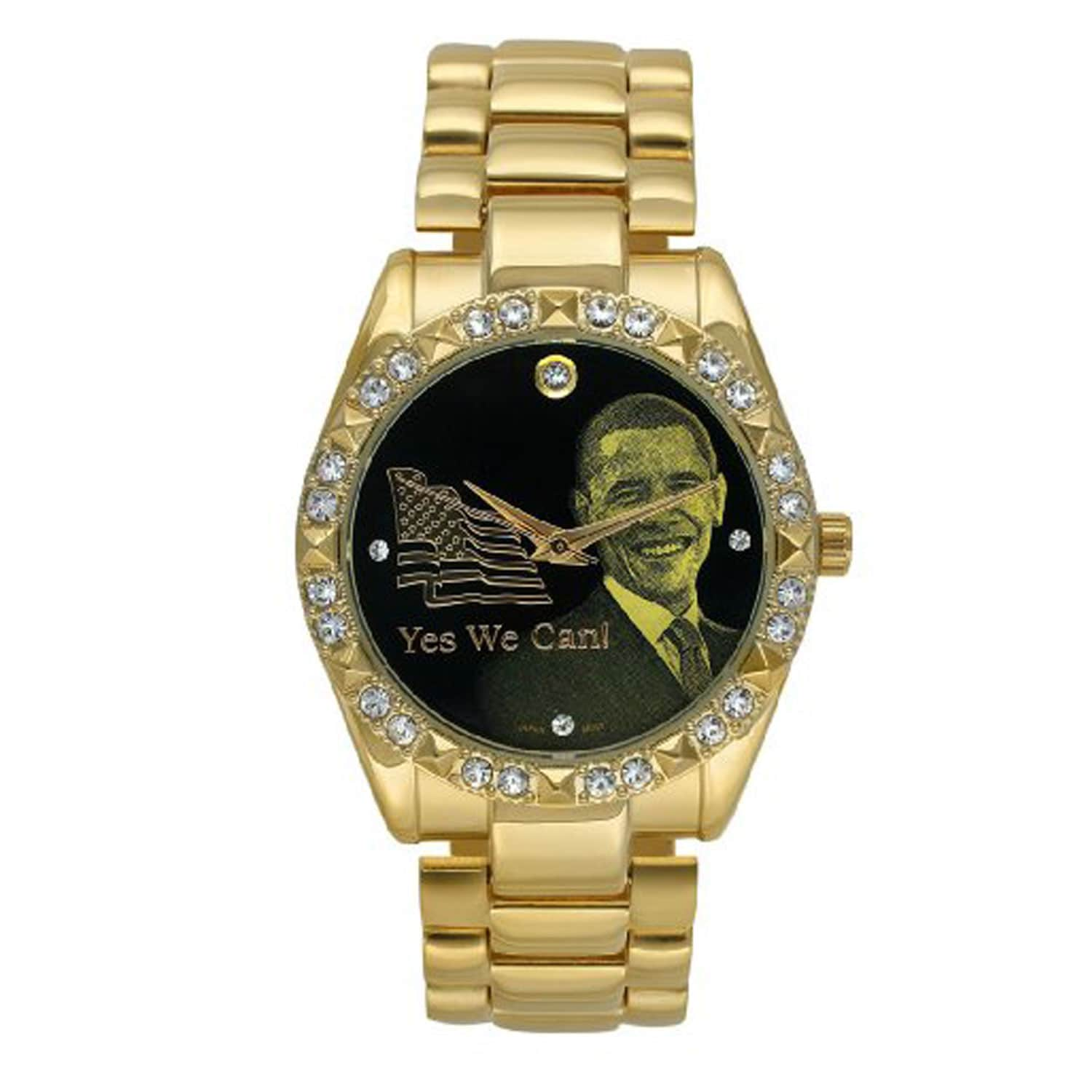 Barack Obama BO-5060 Women's Goldtone Crystal Inauguration Watch