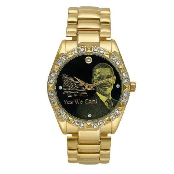 Barack Obama BO-5060 Women's Goldtone Crystal Inauguration Watch