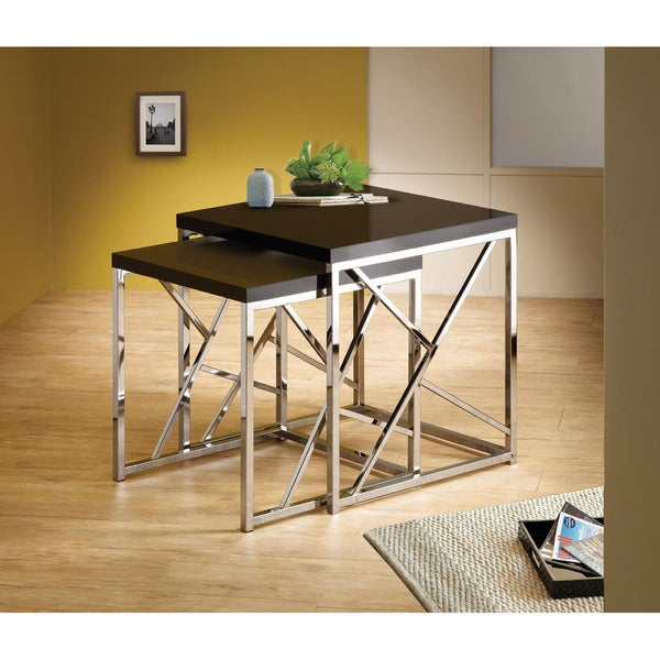 chrome table stands 3