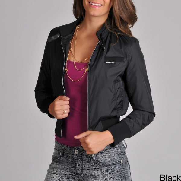 Members Only Women's Fully Lined Classic Nylon Bomber