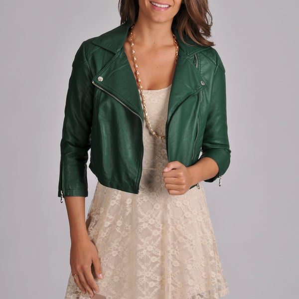 Members Only Women's Quilted Crop Moto Jacket