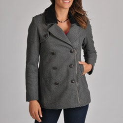 Members Only Women's Rachel Sherpa Collar Pea Coat