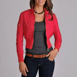 Members Only Women's Classic Nylon Bomber Jacket