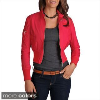Members Only Women's Classic Nylon Bomber Jacket
