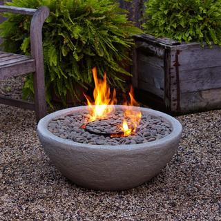 Real Flame Hampton Fiber-Concrete Firebowl