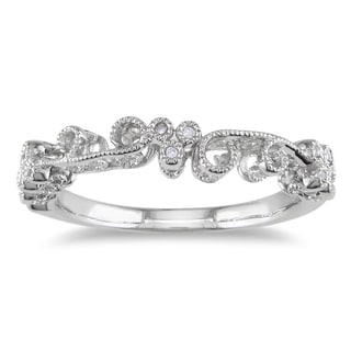Miadora 10k White Gold Pave Set Diamond Ring (H-I, I2-I3)