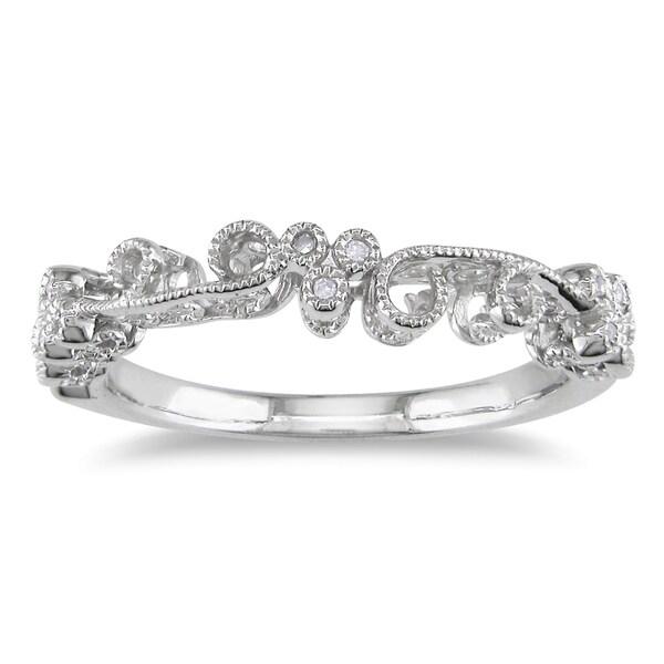 Miadora 10k White Gold Pave Set Diamond Ring (H-I, I2-I3)