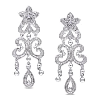 M by Miadora Sterling Silver Diamond Ear Pin Earrings (H-I, I2-I3)