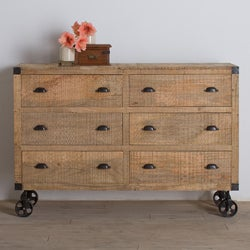 Agra Reclaimed Wood Six-Drawer Dresser (India)