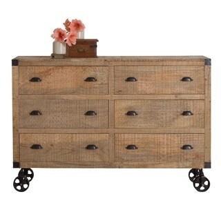 Agra Reclaimed Wood Six-Drawer Dresser (India)