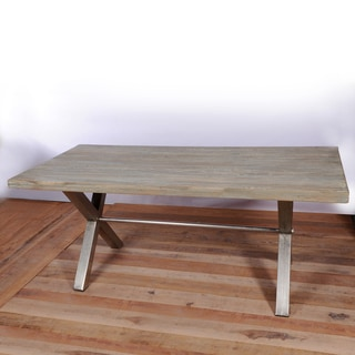 Coorg Teak and Iron Dining Table (India)