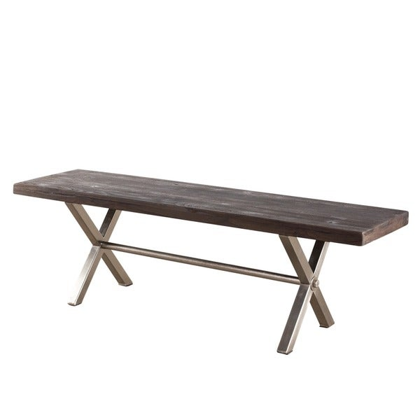 Coorg Teak and Iron Bench (India)