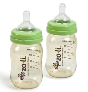 ZoLi Baby 5-ounce Wide-mouth Bottles (Pack of 2)