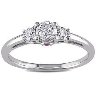 Miadora 14k White Gold 1/2ct TDW Diamond Engagement Ring (G-H, I1-I2)