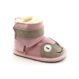 Emu Australia Girl's 'Little Creatures Walkers - Kitty' Regular Suede Boots