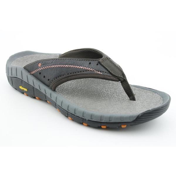 Hi Tec Men's 'Sierra Canyon Thong' Full-Grain Leather Sandals