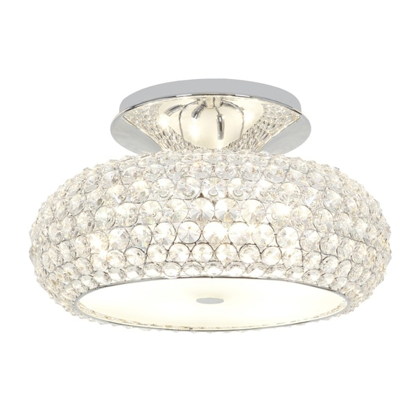 Access 'Kristal' 6-light Chrome Semi-flush Fixture