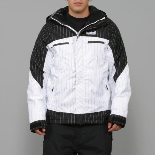 Marker Men's 'Empire Shell' Black/ White Ski Jacket