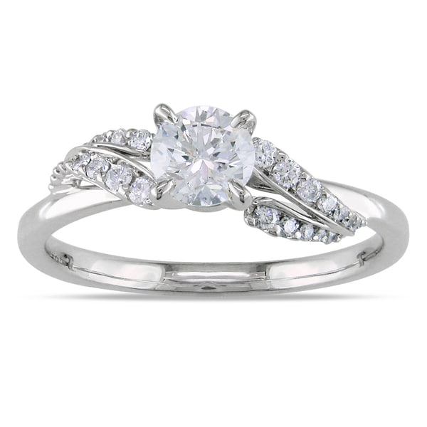 Miadora 14k White Gold 5/8ct TDW Diamond Engagement Ring (G-H, I1-I2)