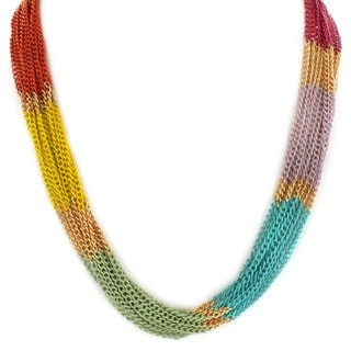 West Coast Jewelry Multi-colored Plated Multi-strand Necklace