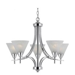 Contemporary 5-light Plated Chrome Chandelier