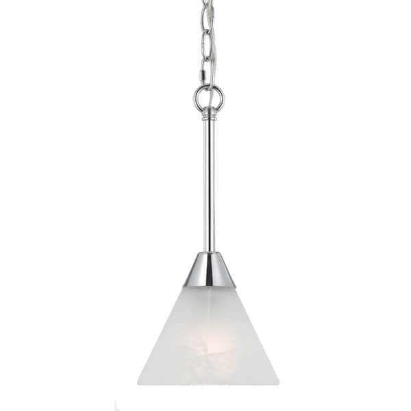 Contemporary 1-light Plated Chrome Mini Pendant