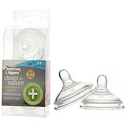 Tommee Tippee Closer to Nature Sensitive Tummy Medium Flow Nipples (Set of 2)