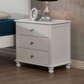 White Anderson 3-drawer Nightstand