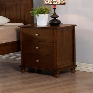 Walnut Anderson 3-drawer Nightstand