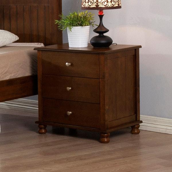 Walnut Anderson 3-drawer Nightstand