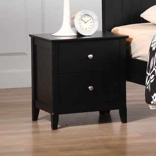 Black Catalina 2-drawer Nightstand