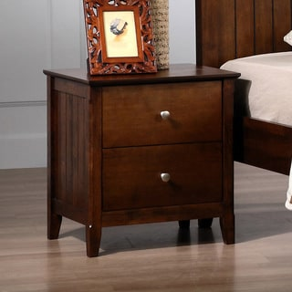Walnut Catalina 2-drawer Nightstand