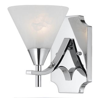 Contemporary 1 light Wall Sconce in Plated Chrome