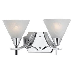 Contemporary 2 light Bath/Sconce in Plated Chrome