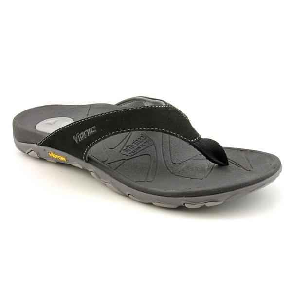 Vionic Men's 'Bryce Toepost Sandal' Regular Suede Sandals
