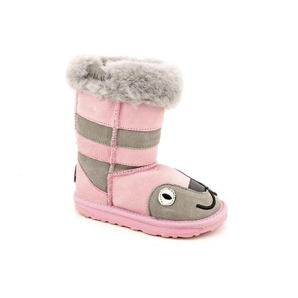 Emu Australia Girl's 'Little Creatures - Kitty' Regular Suede Boots