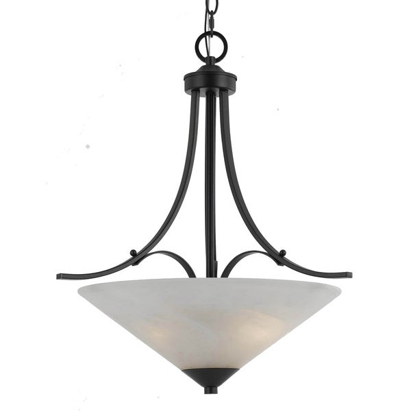 Transitional 3 light Pendant in English Bronze
