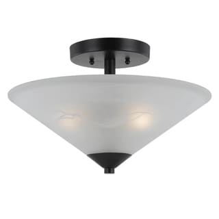 Transitional 2 light Semi Flush in English Bronze