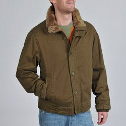 BKE Men's Corduroy Faux Fur Trim Jacket