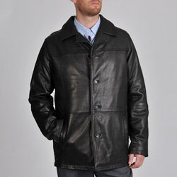 Excelled Men's Big & Tall Lamb Leather Car Coat