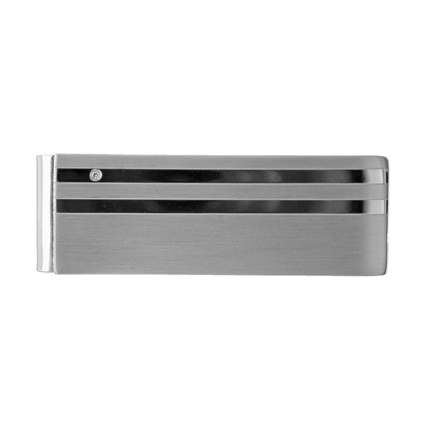 Stainless Steel Cubic Zirconia Magnetic Snap Money Clip