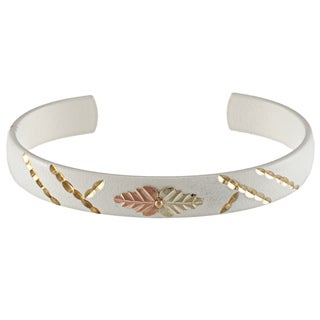 Black Hills Gold Powdercoated Brass Cuff Bracelet