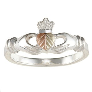 Black Hills Gold and Sterling Silver Claddagh Ring