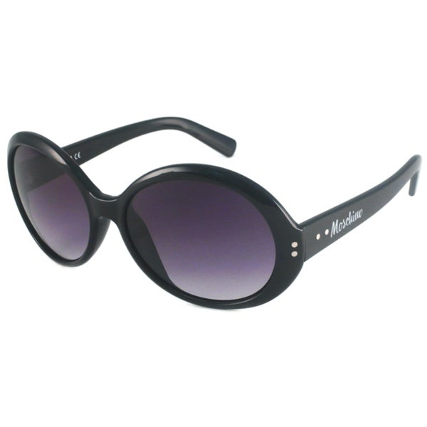 Moschino Women's MO543 Oval Sunglasses with Gradient Lenses